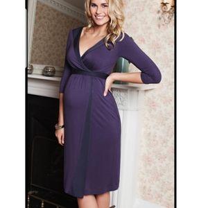 Tiffany Rose Maternity Dress Faux Wrap Purple